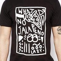 Lazy Oaf T-Shirt with Jalepeno Print -