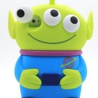 3D 3 Eyes Alien Disney Toy Story Movable Eye Hard Case Cover I phone 4 4S Blue