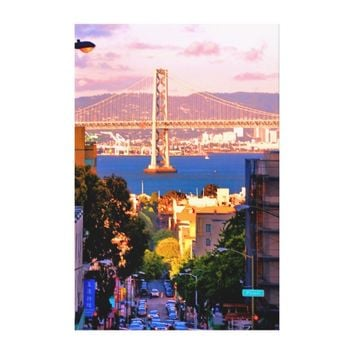 40 X 60 SCENIC SAN FRANCISCO CITY CANVAS PRINT