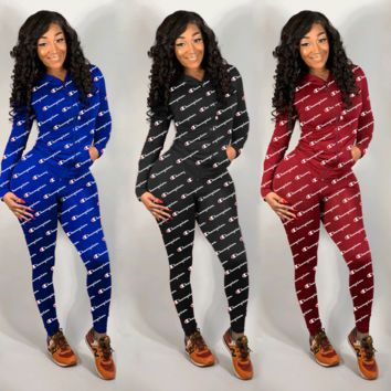 Champion Printed Letter 2019 Pure-colour Sanitary Suit
