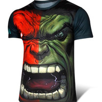 Cadet Blue The Hulk Printed Short Sleeve T-Shirt