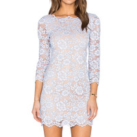 Diane von Furstenberg Zarita Lace Dress in Lilac