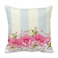 pale pink,yellow,shabby chic,floral,vintage,trendy pillows
