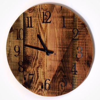 Reclaimed Barn Wood Clock, 16inches