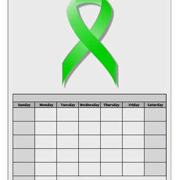Lyme Disease Awareness Ribbon - Lime Green Blank Calendar Dry Erase Board
