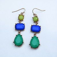 Caribbean Inspired Dangle Earrings