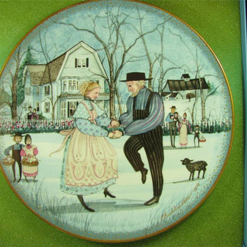 """ANNA PERENNA Buckley Moss """"The Anniversary"""" Collector Plate New! MIB! #1992 Free shipping!"""