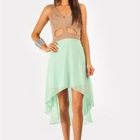 Randi Cut It Out Dress - Mint at Necessary Clothing