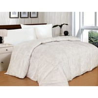 300 Thread Count Paisley White Alternative Down Comforter-Twin