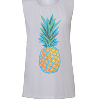 pineapple workout tank workout top workout womens workout shirts workout clothes gym tank gym shirts fitness tank activewear
