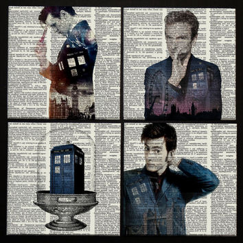 Dr Who Matt Smith Drink Coaster Tardis Wooden tablet coaster 10 doctor 11 doctor 12 doctor Tennant Capaldi Dr Who coaster Dr Who art