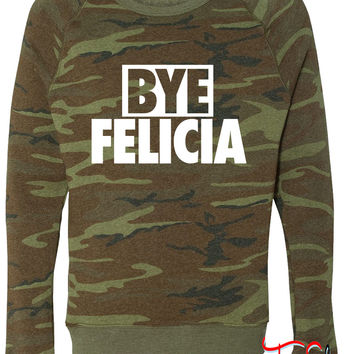 Bye Felicia fleece crewneck sweatshirt