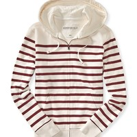 Striped Full-Zip Hoodie