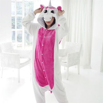 Adult Unicorn Onesuit Pajamas Animal Tenma Sleepsuit Costume Anime Cosplay Women Unicorn pijamas Fancy Couple Sleepwear