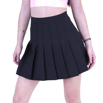 Pleated Tennis Skirts White and Black