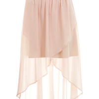 Nude Wrap Drop Back Skirt - Skirts  - Apparel  - Miss Selfridge US