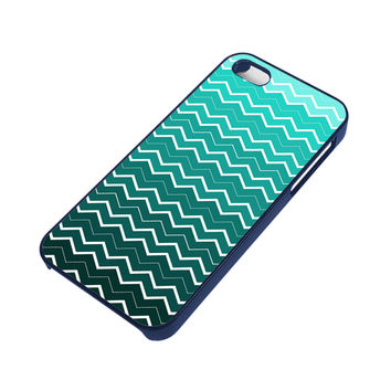 OMBRE TEAL CHEVRON Pattern iPhone 5 / 5S Case
