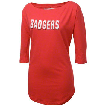 Wisconsin Badgers Women's Red Boatneck Tunic