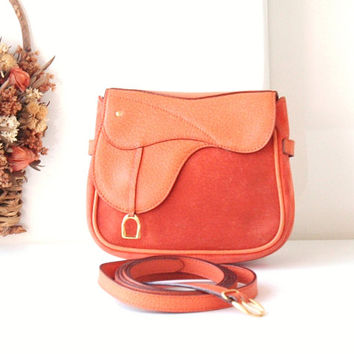Gucci Saddle Suede Leather waist and shoulder cross body bag authentic vintage