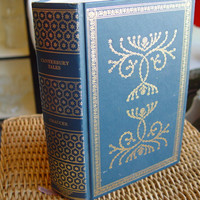 """Vintage Book, """"Canterbury Tales"""", Chaucer, 1934, rendered by J.U. Nicolson, intro by Gerould. Illustrated"""