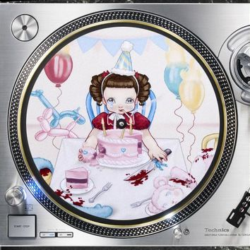 Pity Party 12 inch  Slip mat Turntable Vinyl decor Record collection DJ audiophile 16 ounce Slipmat x1