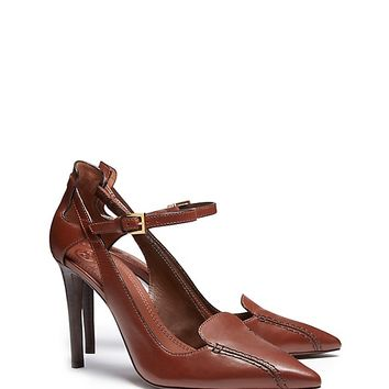 Tory Burch Saddle-stitch Pump