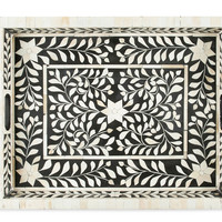 Bone Inlay Tray - Black