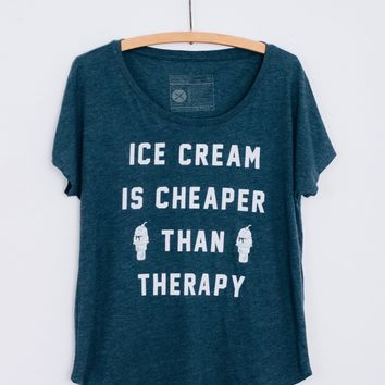 Ice Cream is Cheaper Than Therapy Dolman