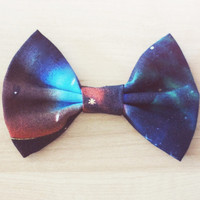 Galaxy Outer Space Hair Bow / Bow Tie Pin