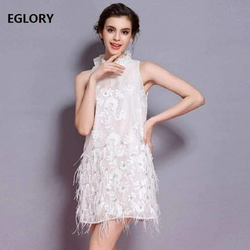 Lux Party Dresses Summer Women Elegant Bow Tie Beaded Embroidery Feather Tassels Dress Princess Girls Dresses