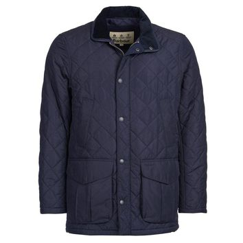 Devon Quilted Jacket in Navy by Barbour - FINAL SALE