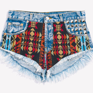 Hill Studded Festival Babe Shorts
