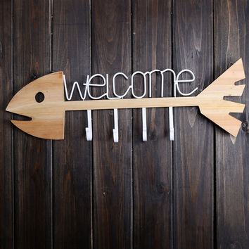 Creative 'Welcome' Cast Iron Wall Hook