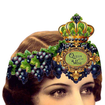 Heart the Moment Greeting Card - Queen of the Wine Wearable Card/Tiara