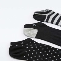 Calvin Klein Black Dot and Stripe Sock Pack - Urban Outfitters