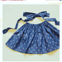 SALE Girls Twirl Skirt: Open Seas Extra Full Skirt Spring Summer Collection from Fleur and Dot