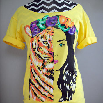 KATY PERRY - Eye Of The Tiger T-Shirt (S-L)