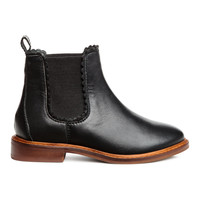 Leather Jodhpur Boots - from H&M