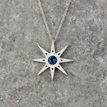 Best north star necklace products on wanelo blue star necklace north star pendant available in solid gold palladium and platinum aloadofball Gallery