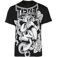 Tapout Men's Rattled Tee, Black, XX-Large