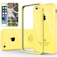 iPhone 5C Case, Caseology® [Fusion Series] Scratch-Resistant Clearback Cover [Yellow] [Dual Bumper] for Apple iPhone 5C - Yellow