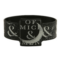 Of Mice & Men Moon Rubber Bracelet