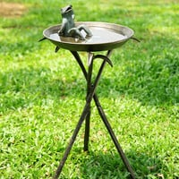 SPI Garden Collection Cool Frog Birdbath