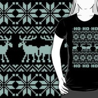 Ho Ho Ho 8-Bit Ugly Sweater Tiffany Pattern