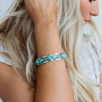 Vienna Turquoise Cuff Bracelet - Turquoise