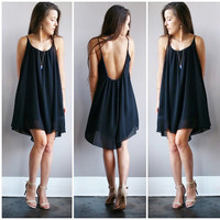 A Little Black Flow Dress