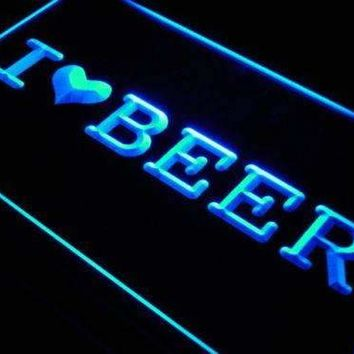 I Love Beer LED Neon Light Sign