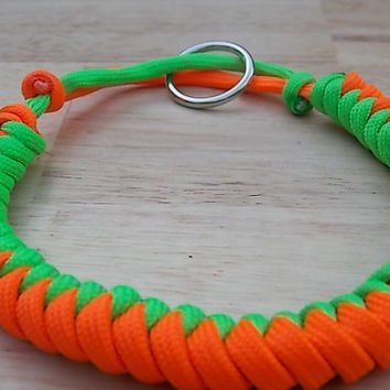 Dog Collar Paracord Adjustable with ID Tag Ring