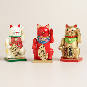 Lucky Cat Chubby Nutcrackers, Set of 3 - World Market