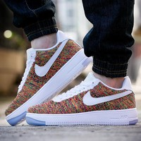 LMFON Nike Air Force 1 Flyknit Af1 817419-604 2018 For Women Men Running Sport Casual Shoes Sneakers
